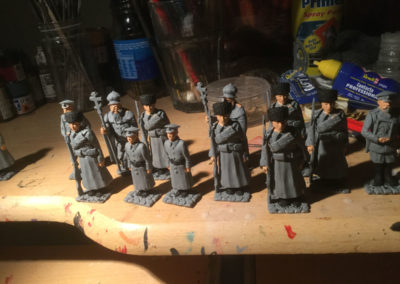 Tsar set before painting